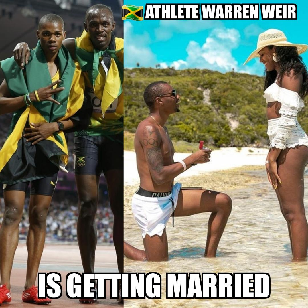 Jamaican 🇯🇲 Sprinter Warren Weir will be Running To the Altar Soon 4