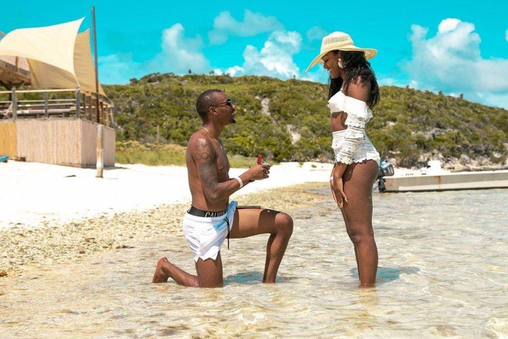 Jamaican 🇯🇲 Sprinter Warren Weir proposal to Girlfriend Alexan Stewart