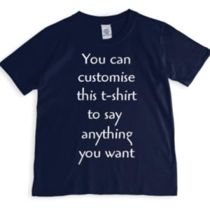 Crezions Gifts Bespoke and Personalised Couple Matching T-Shirts with Custom Text