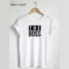 The Boss and The Real Boss Personalised Couple Matching T-Shirts Black