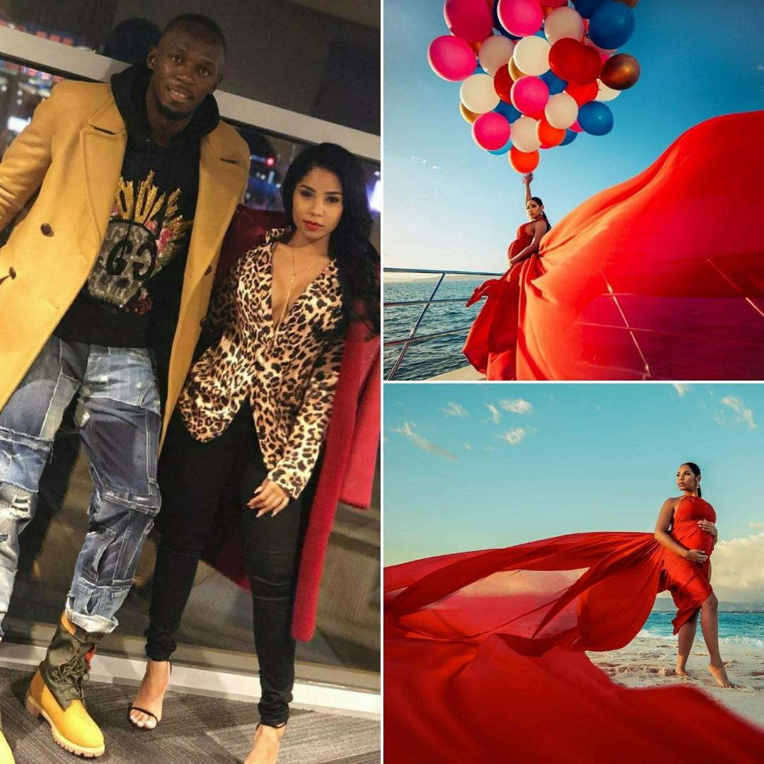 Usain Bolt and Girlfriend Kasi Bennett Baby Pregnancy Announcement in Jamaica