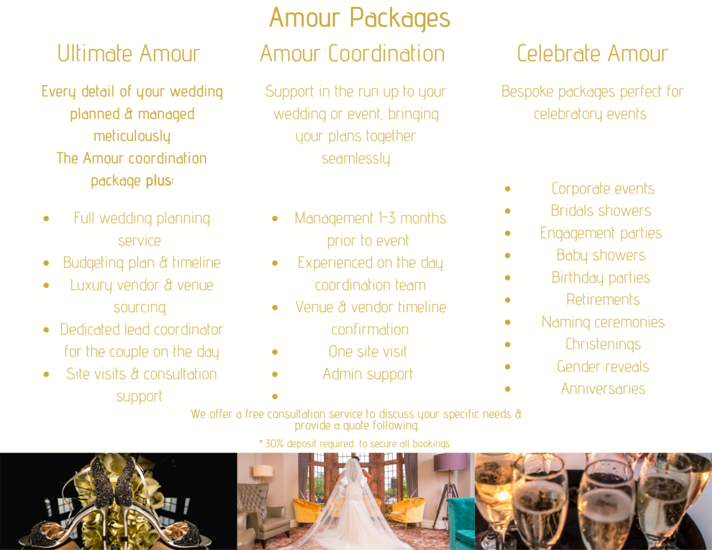 Wedding Packages by Jarvis Amour Black Luxury Wedding Planner Manchester