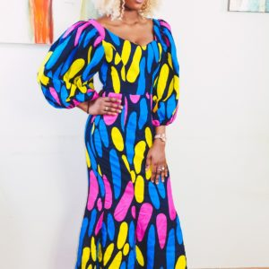 Sade African Fashion Ankara Print Maxi Dress