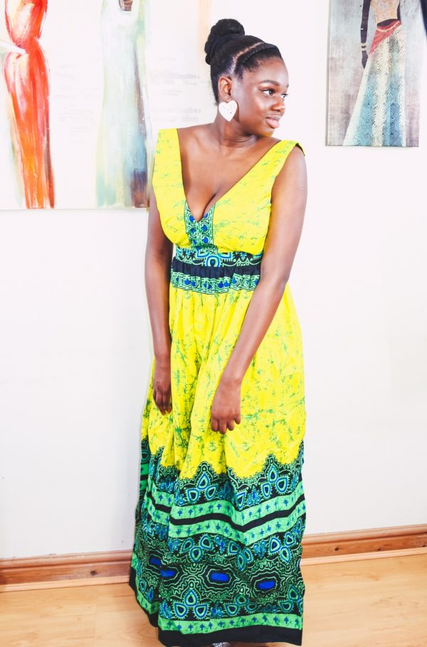 Summer Pleasure African Fashion Ankara Print Maxi Dress
